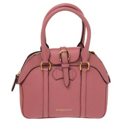 Burberry Pink Leather Small Milverton Satchel