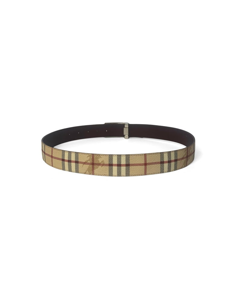 Burberry Plaid Check Reversible Belt sz 30.5