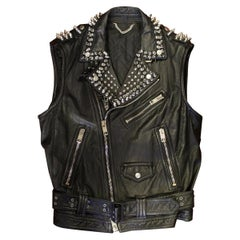 "Burberry Prorsum Men's ""Spikes Studded"" Vest IT 50"