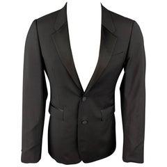 BURBERRY PRORSUM Size 36 Black Wool Blend Notch Lapel Sport Coat