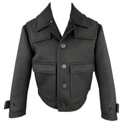 BURBERRY PRORSUM Size 38 Black Cashmere Blend Cropped Jacket