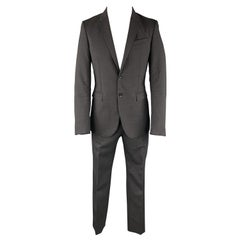BURBERRY PRORSUM Size 38 Charcoal Heather Wool / Cotton Structured Suit