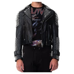 Burberry Prorsum Spike Studded Leather Biker Jacket