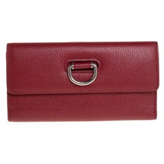 Burberry Red Leather Highbury Continental Wallet