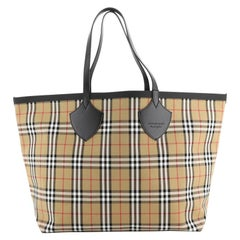 Burberry Reversible Giant Tote Vintage Check Canvas XL