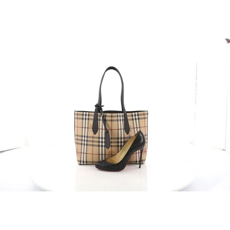 0554dfa0875a This Burberry Reversible Tote Haymarket Coated Canvas and Leather Medium