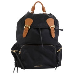 Burberry Rucksack Backpack Nylon with Leather Large