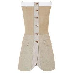 Burberry S/S 2020 Pecan Melange Wool & Cashmere Waistcoat XXS US 0