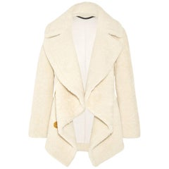 Burberry Shearling and Cable Knit Coat