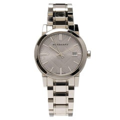 Burberry Silver Stainless Steel Heritage Collection Women's Wristwatch 36MM