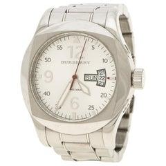 Burberry Silver White Military Inspired BU7637 Men's Wristwatch 43 mm