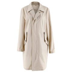 Burberry Stone Zip Trench Coat with Detachable Hood - US size 38