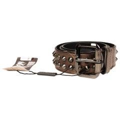 Burberry Studded Dark Nickel Belt (Size 28/70)