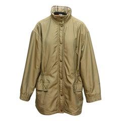 Burberry Tan Fleece-Lined Jacket