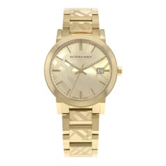 Burberry The City Gold Ion-Plated Steel Gold Dial Quartz Unisex Watch BU9038