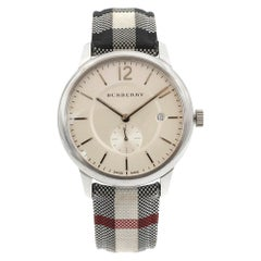 Burberry The Classic Round Silver Dial Steel Quartz Men's Watch BU10002