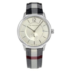 Burberry the Classic Round Silver Dial Steel Quartz Unisex Watch BU10002