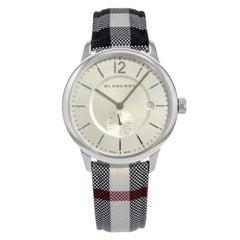 Burberry the Classic Silver Dial Steel Fabric Swiss Quartz Unisex Watch BU10002