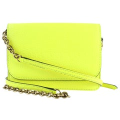 Burberry Wallet on Chain Neon  1burz0817 Yellow Leather Cross Body Bag