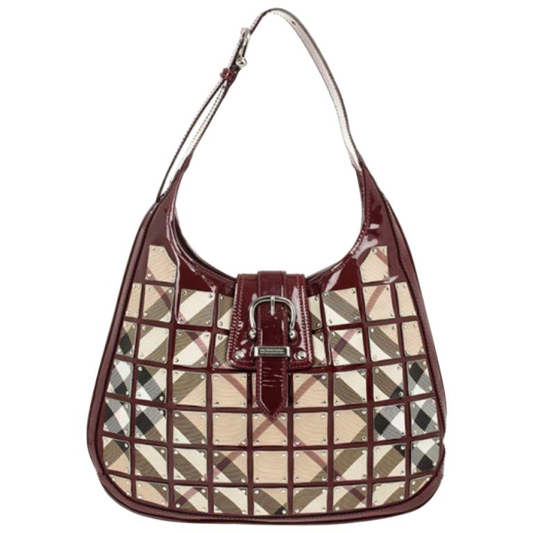 2ab862d9381e Burberry Warrior Nova Check  Brooke  Hobo at 1stdibs