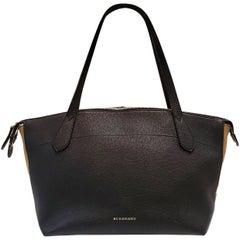 Burberry Welburn Black House Check Tote Handbag