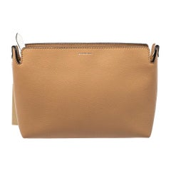 Burberry White/Beige Leather Clutch
