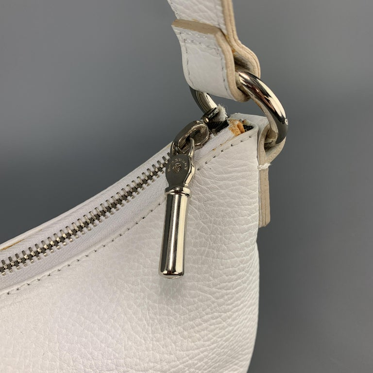 Burberry White Leather Mini Patch Flap Pocket Shoulder Bag