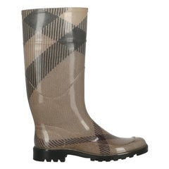 Burberry Woman Boots Beige Synthetic Fibers IT 38