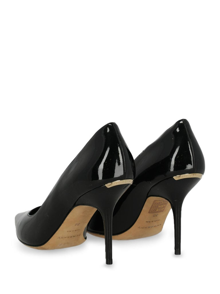 Burberry Woman Pumps Black Leather IT 38 In Good Condition For Sale In Milan, IT