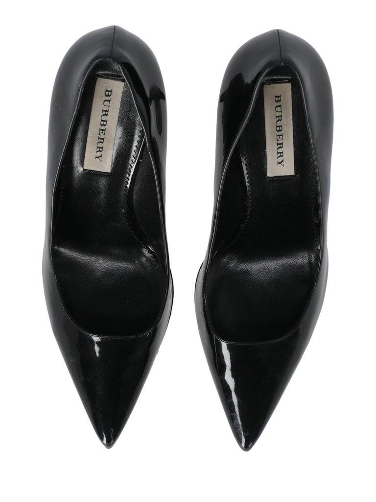 Burberry Woman Pumps Black Leather IT 38 For Sale 1