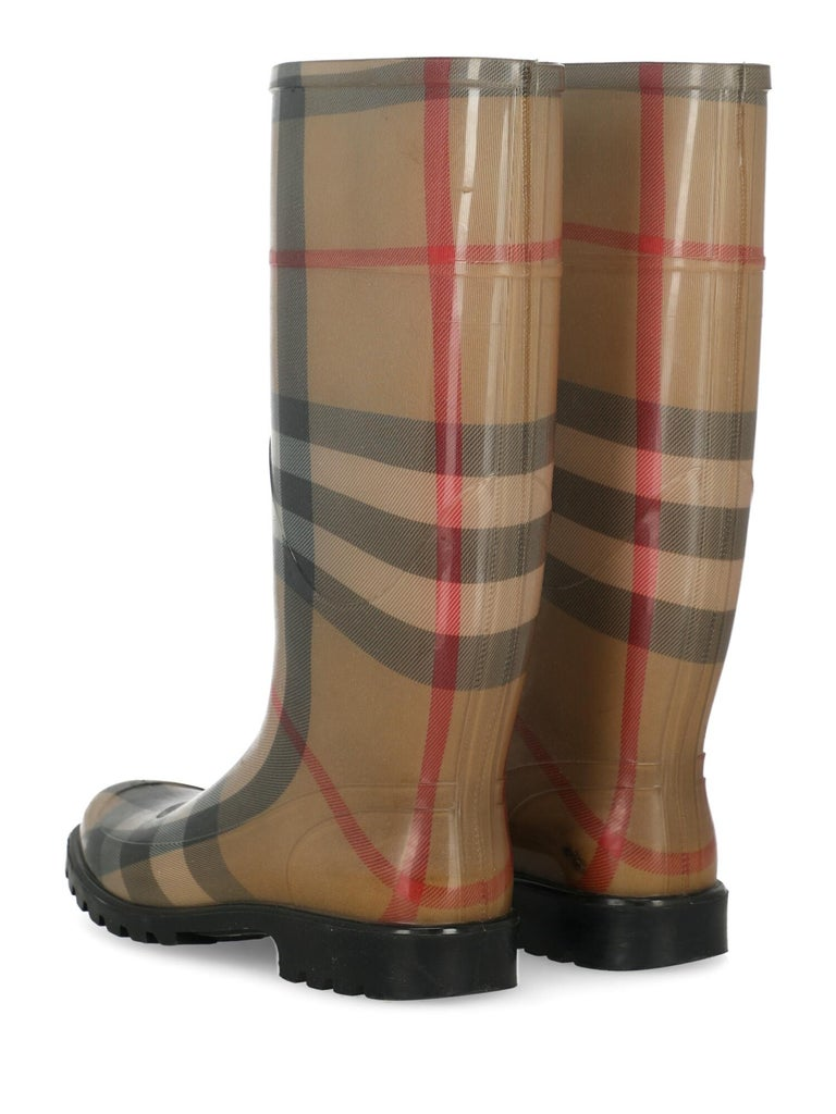 Burberry Women  Boots Beige Synthetic Fibers IT 39 In Good Condition For Sale In Milan, IT