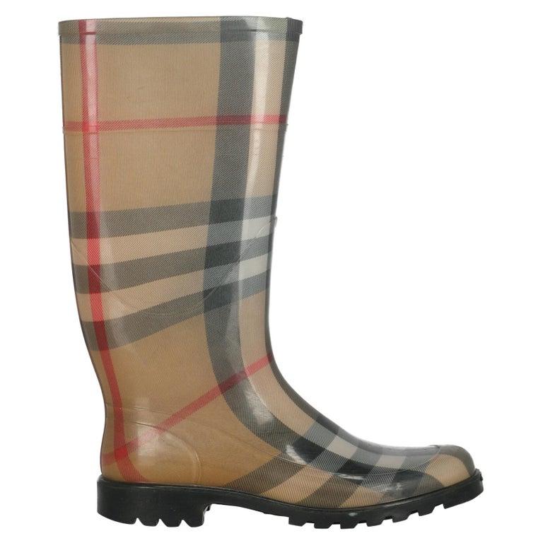 Burberry Women  Boots Beige Synthetic Fibers IT 39 For Sale
