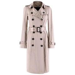 Burberry Womens Cotton Gabardine Trench Coat - Size XXS US2