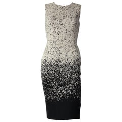 Burberry Wool Black and White Speckle Shift Dress Size 38