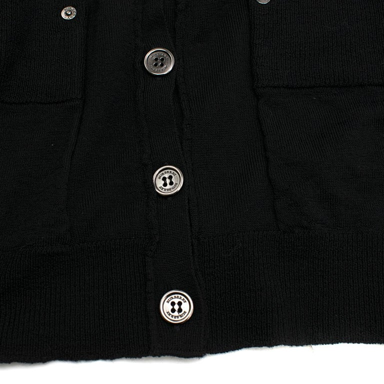 Burberry Wool blend Black Sleeveless Cardigan - Size XS For Sale 4