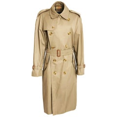 Burberrys London Mens Belted Trench Coat Tan Sz 40