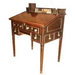Bureau, 19th Century, English, Regency, Mahogany, Secret Drawers, Gallery