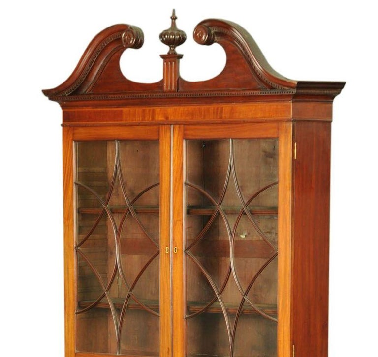 English Bureau Bookcase George III Mahogany For Sale