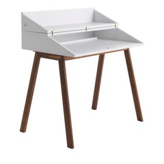 Bureau White Writing Desk by Esa Vesmanen