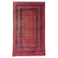 Burgundy Area Rug From Afghanistan, Colorful / 033