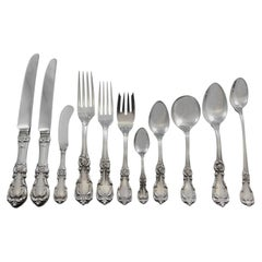 Burgundy by Reed & Barton Sterling Silver Flatware Set 12 Service 150 Pcs Dinner