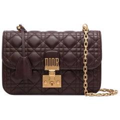 Burgundy Dioraddict Flap Bag