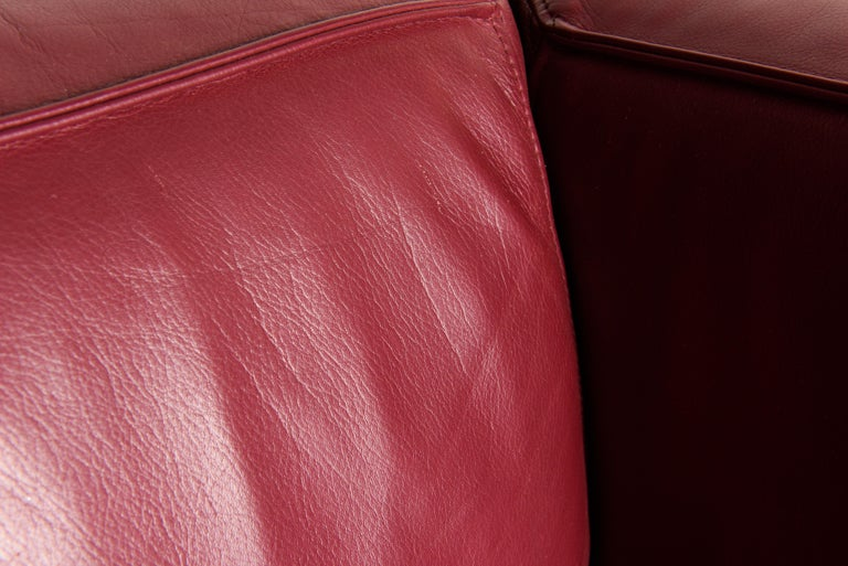 Burgundy Leather 'Blox' Club Chairs by Jehs + Laub for Cassina, 2002, Signed For Sale 8