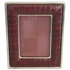 Burgundy Leather Photo Frame by Fabio Ltd