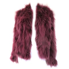 Burgundy red Fur jacket