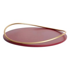 Burgundy Touché a Tray by Mason Editions