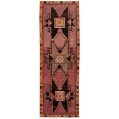 Burgundy Vintage Turkish Wool Runner
