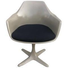 Burke Mid-Century Modern Tulip Style Armchair