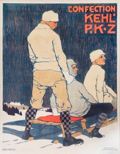 """Confection Kehl/PKZ"" Original Vintage Men's Fashion Poster"