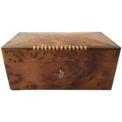 Burl Box with Inlay